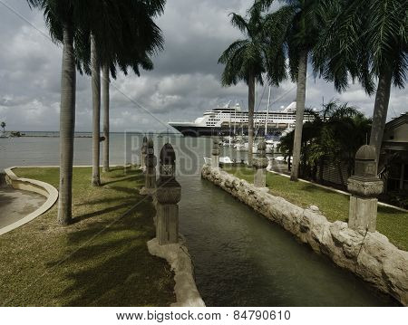 Harbor from Oranjestad, Aruba