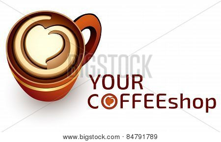 Logo template, coffee