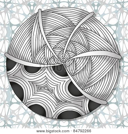 Hand-drawn doodles zentangle pattern
