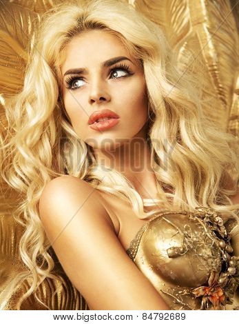 Glamorous golden blonde beauty