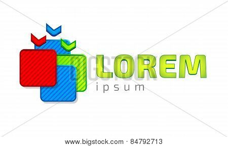 Logo template, gifts, sales, e-commerce