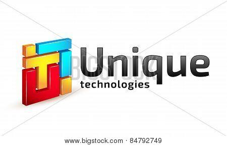 Logo temlate, unique technology