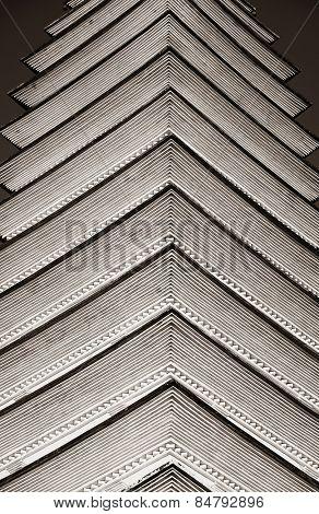 Pagoda closeup abstract pattern in Dali in Yunnan, China.