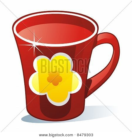 isolated colored mug