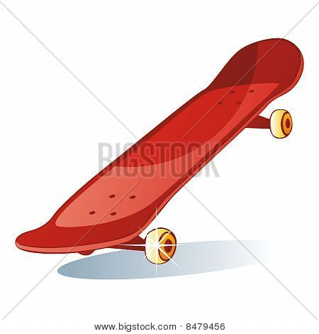 isolated colored skateboard