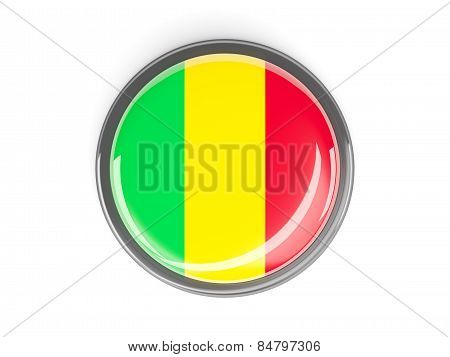 Round Button With Flag Of Mali