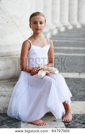 Ballet, ballerina - young and beautiful ballet dancer