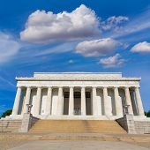 image of abraham  - Abraham Lincoln Memorial building Washington DC US USA - JPG