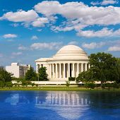 stock photo of thomas jefferson memorial  - Thomas Jefferson memorial in Washington DC USA - JPG