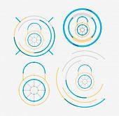 pic of neat  - Thin line neat design logo set - JPG