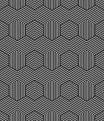 stock photo of hexagon pattern  - Seamless hexagons pattern - JPG