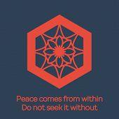 picture of shogun  - Asian religious hexagonal ornament - JPG