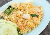foto of thai cuisine  - Fried rice with crab of Thai cuisine - JPG