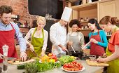 picture of vegetarian meal  - cooking class - JPG