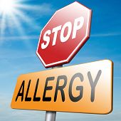 foto of allergy  - Allergy and allergic reactions hypersensitivity disorder of the immune system asthma attack caused by food or pollen or hay fever - JPG