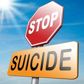 picture of suicide  - suicide prevention campaign stop before too late - JPG