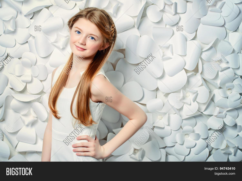 Beautiful Blonde Teen Girl Wearing Image Photo Bigstock