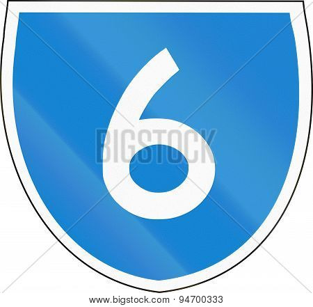 Australian State Route Shield 6