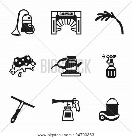 Vector Car wash icon set