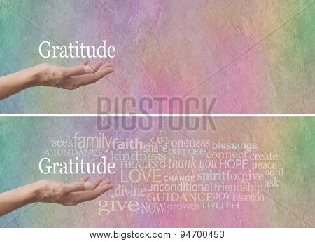 Gratitude Attitude Word Cloud Banner