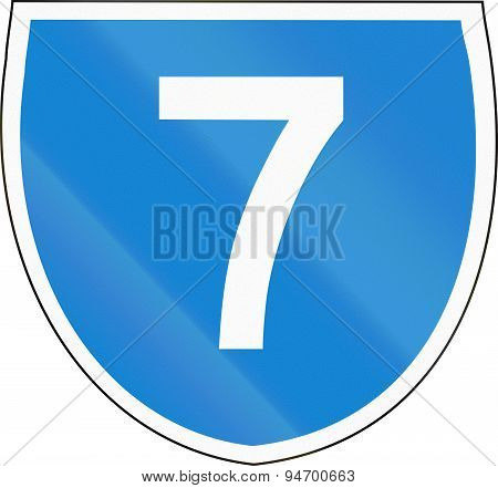 Australian State Route Shield 7