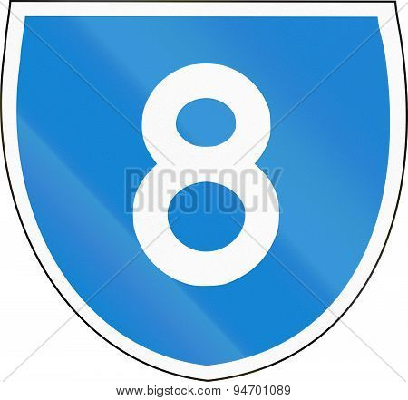 Australian State Route Shield 8