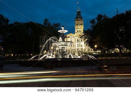 Quebec building named Fontaine de Tourny