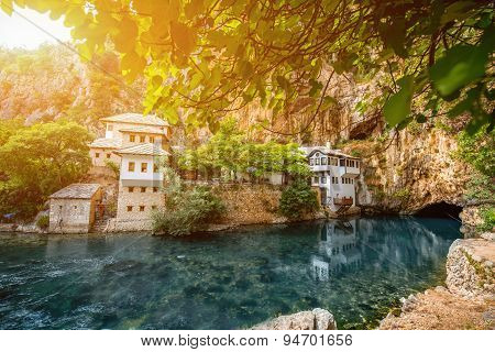 Small village Blagaj on Buna spring