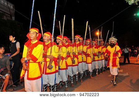 Phu Yen, Vietnam - March 30, 2014: Cau Ngu Festival In Vietnam, Which Is Also Called Whale Festival,