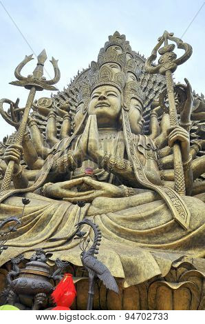 Ho Chi Minh City, Vietnam - March 31, 2012: Buddha With Thousand Hands And Thousand Eyes In The Suoi