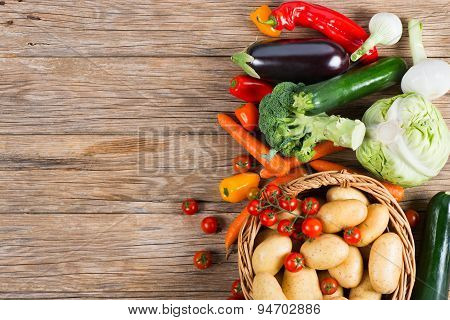 Top View Of Fresh Vegetables