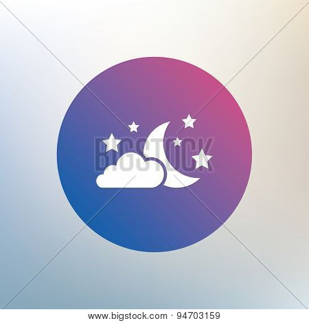 Moon, clouds and stars sign icon. Dreams symbol.