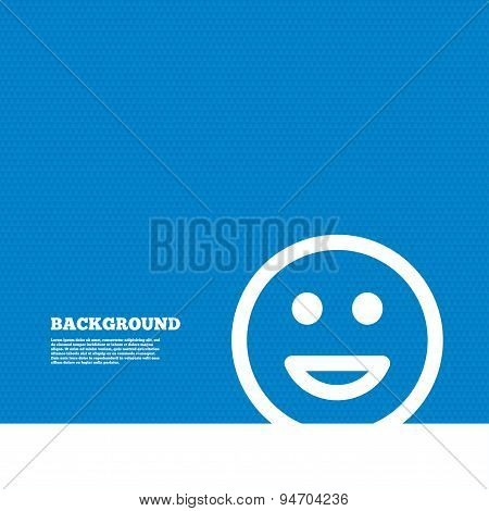 Smile icon. Happy face symbol.