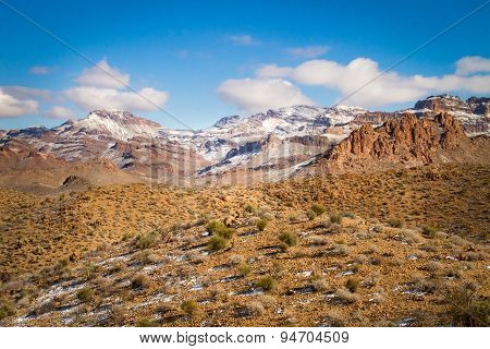 Snow Capped Desert Mountains