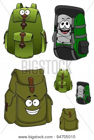 Travel backpacks cartoon characters with pockets