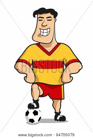Cartoonhappy football or soccer player