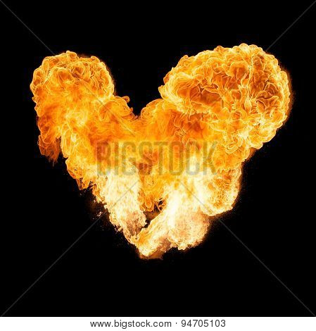 Heart Shaped Fireball