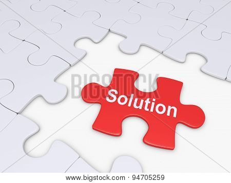 Puzzle Piece As Solution