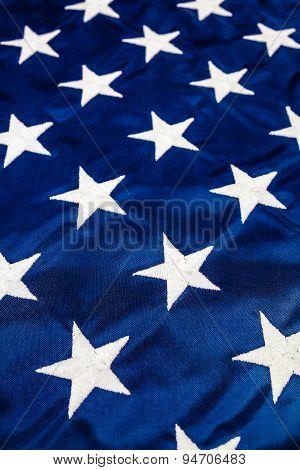 White Stars On American Flag