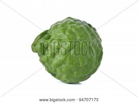 Fresh Bergamot Or Leech Lime On White Background