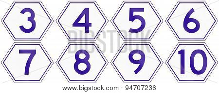Australian Metroad Route Markers Number 3 To 10