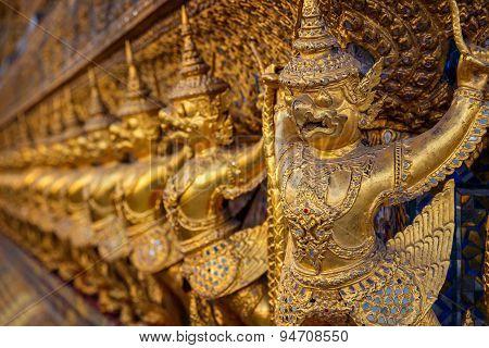 Karuda at Wat Phra Kaew - the Temple of Emerald Buddha in Bangkok Thailand