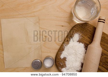 Ingredients Unleavened Dough