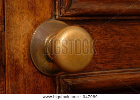 Antique Door And Door Knob