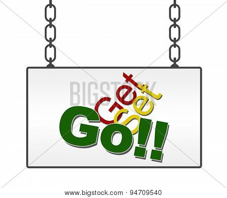 Get Set Go In Signboard