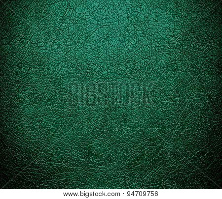Deep green-cyan turquoise leather texture background