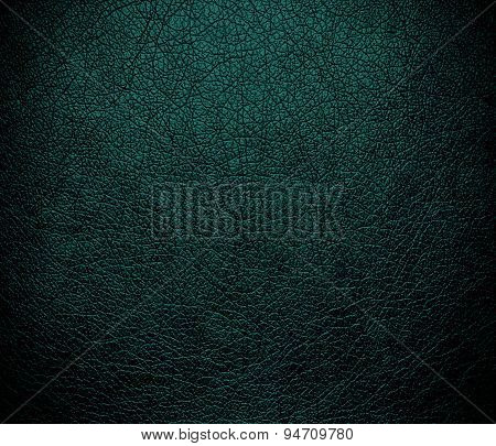 Deep jungle green leather texture background
