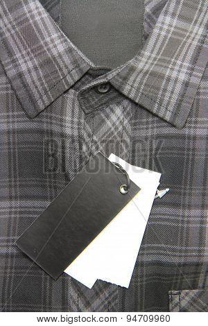 Price tag of Plaid shirts
