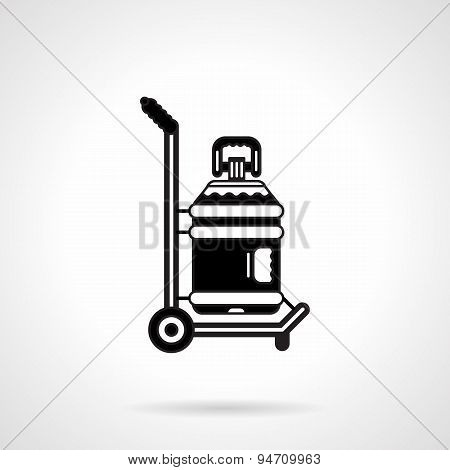 Black vector icon for potable water delivery