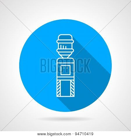 Automatic cooler blue round vector icon